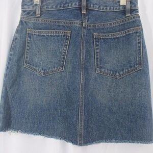 Gap Jeans Skirt Size 2 Raw Hem